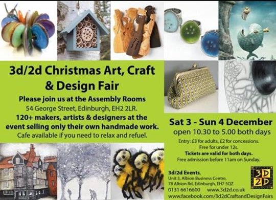 3D/2D Christmas Art, Craft & Design Fair December